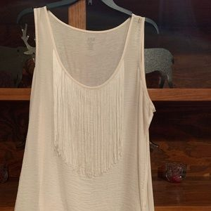 a.n.a. Top with cute fringe, XL